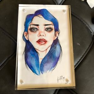 Other - BEAUTIFUL WATERCOLOR ART GIRL PAINTING
